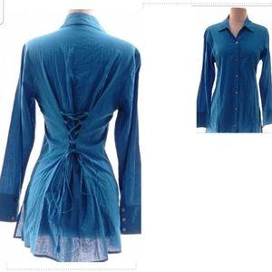 Tommy Bahamas Blue Shirt